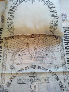 постель в гроб Х/Б с символикой