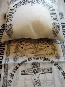 подушка покрывапло в гроб шелк с символикой